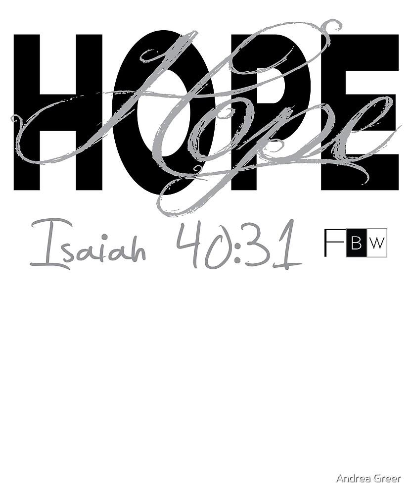 HOPE, Isaiah 40:31 by faithbw