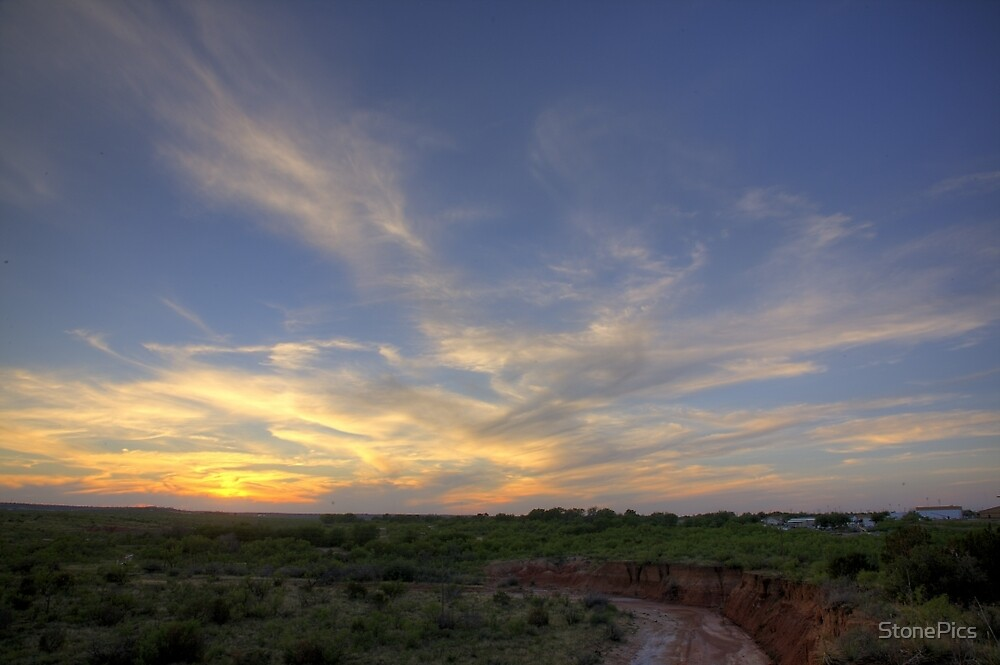 Sunset- Post, TX by StonePics