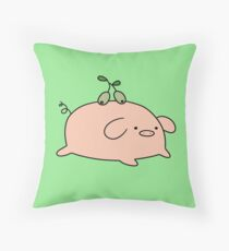 Olive Pig Throw Pillow