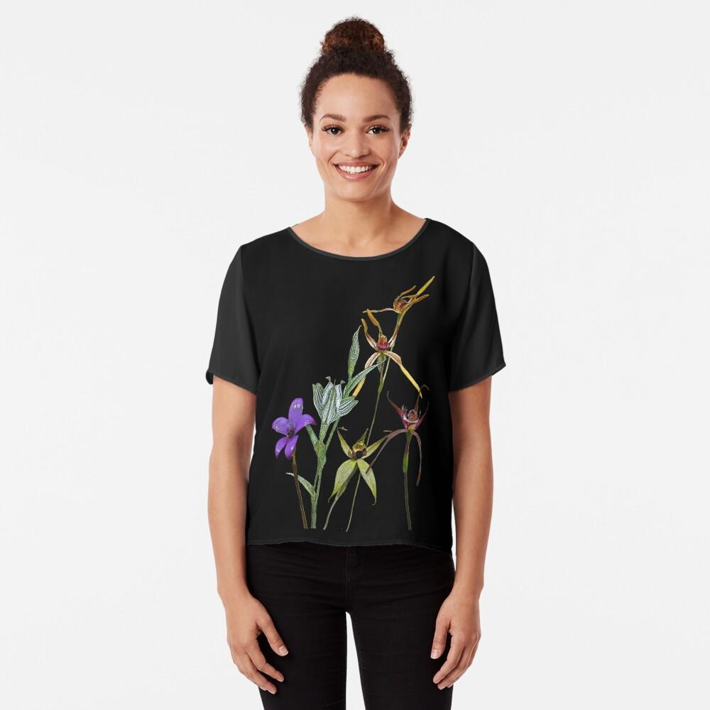 Orchids of Australia 6 Native orchids of Western Australia Chiffon Top