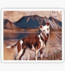 Hunting Dog by the Lake Sticker