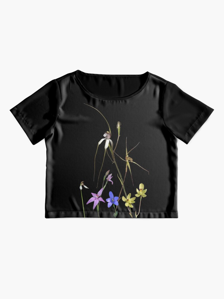 Alternate view of Orchids of Australia 7 Native orchids of Western Australia Chiffon Top