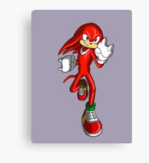 Knuckles the Echidna Canvas Print