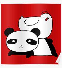 Póster Panda y pollo