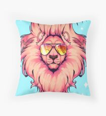 Summer Lion  Throw Pillow