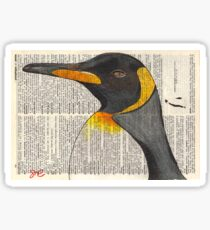 Emperor Penguin on Dictionary Page Sticker