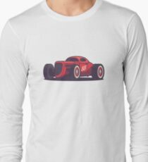 Vintage Hot Rod Classic Street Racer - Red T-Shirt