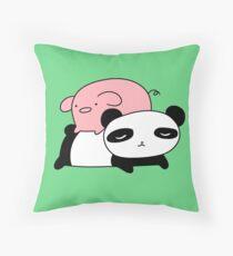 Little Piggy and Panda Throw Pillow