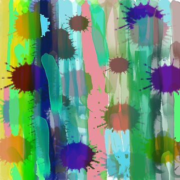 True Colors -  Abstract Watercolor  by Suzeology