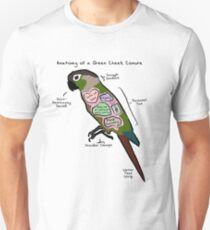 Anatomy of a Green Cheek Conure Unisex T-Shirt