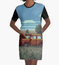 Native Grasslands - 3 Graphic T-Shirt Dress