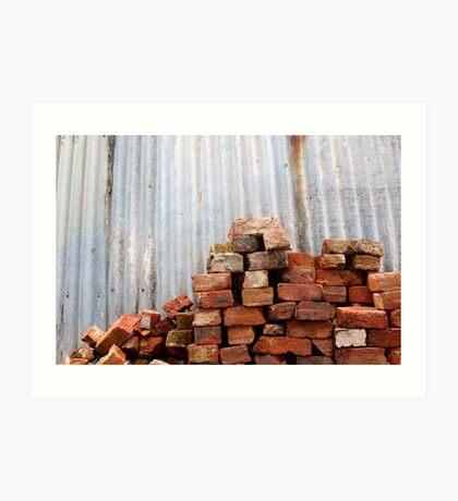 Brick Pile Art Print