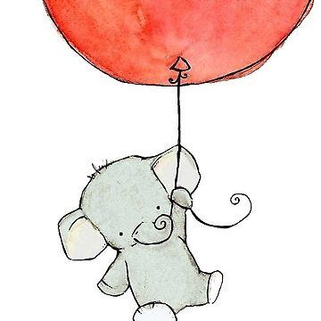 elefante volador de stickersnstuff