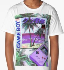 Gameboy Vaporwave Long T-Shirt