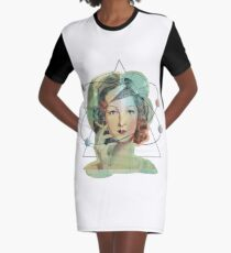 Mrs. Magritte's Brain Graphic T-Shirt Dress