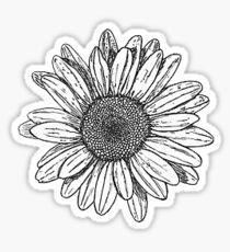 Sonnenblume Gekritzel Sticker