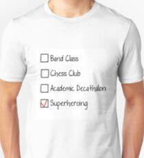 spider man homecoming checklist T-Shirt