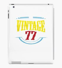 Vintage 1977 Birthday 40 year olds Funny Gift iPad Case/Skin