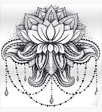ornamental Lotus Poster