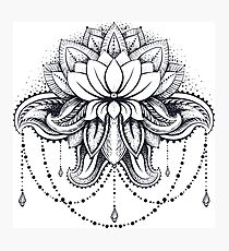 ornamental Lotus Photographic Print