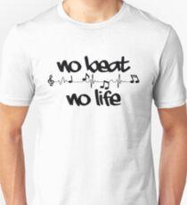 no beat no life music T-Shirt