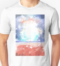 Abstract Calm Beach and Empty Sky Pastel Styled T-Shirt
