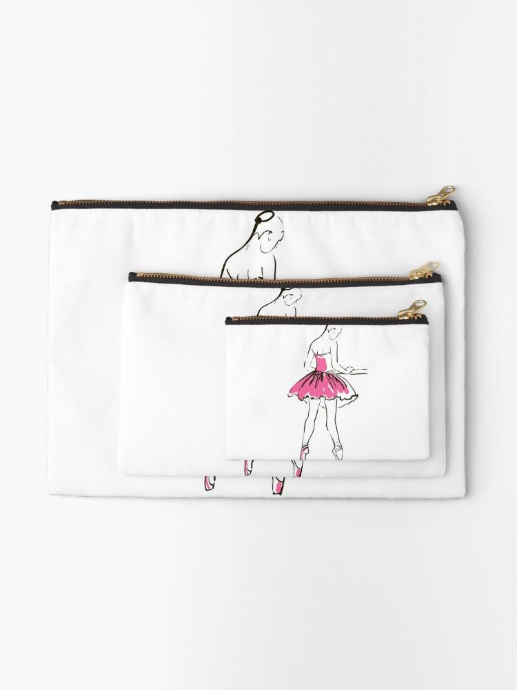 Alternative Ansicht von Skizze der Ballerina des Mädchens Täschchen