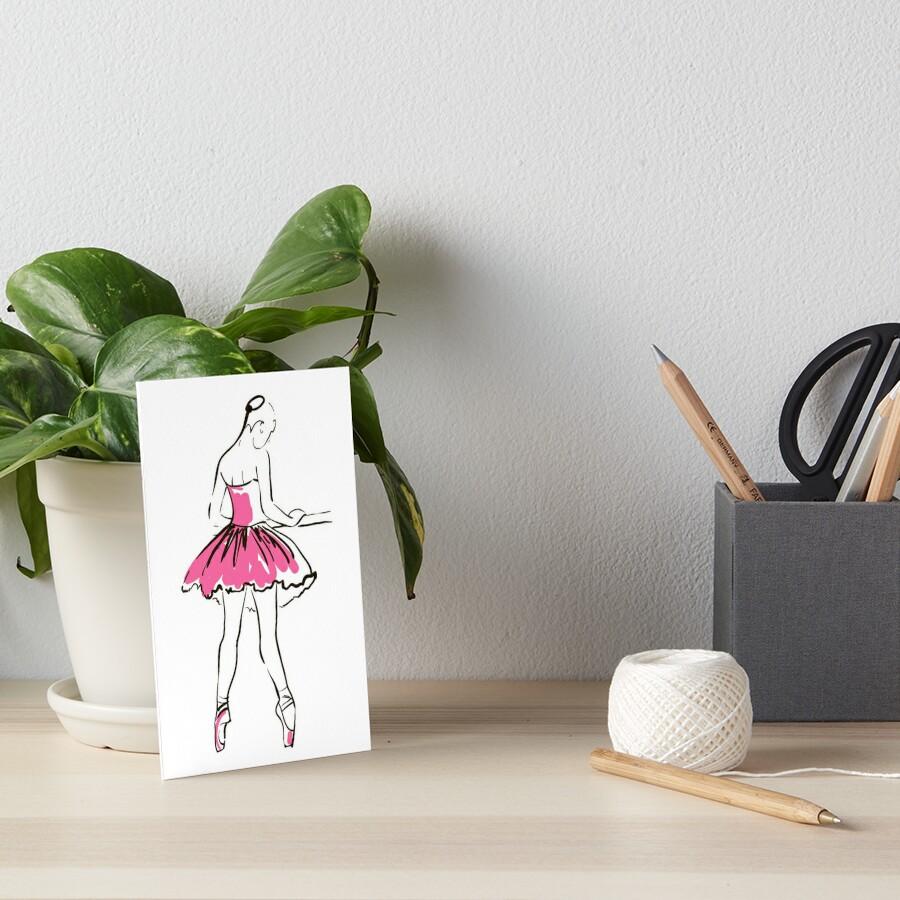 Skizze der Ballerina des Mädchens Galeriedruck