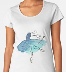 ballerina figure, watercolor Premium Scoop T-Shirt