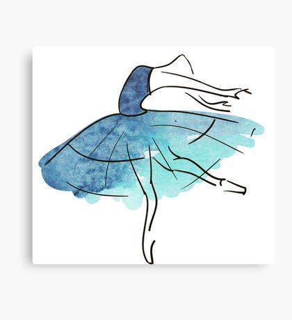 Ballerina Figur, Aquarell Leinwanddruck