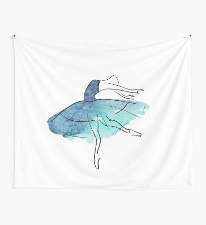 Ballerina Figur, Aquarell Wandbehang
