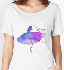 ballerina figure, watercolor Women's Relaxed Fit T-Shirt