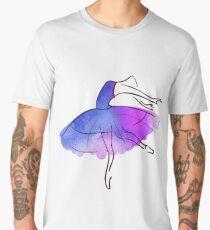 ballerina figure, watercolor Men's Premium T-Shirt