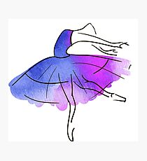 ballerina figure, watercolor Photographic Print