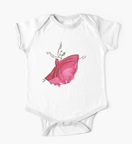 Ballerina Figur, Aquarell Kindermode