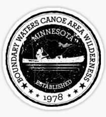 Minnesota Boundary Waters Vintage Style Stamp - Black Sticker