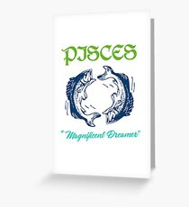 "Pisces ""Magnificent Dreamer"" Zodiac Greeting Card"