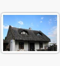 Thatch roofed farmhouse in Tihany, Hungary  Sticker