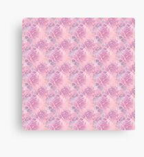 Pink abstract flowers  Canvas Print
