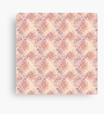 Beige orange abstract flowers  Canvas Print