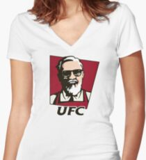 kcf conor mcgregor Women's Fitted V-Neck T-Shirt