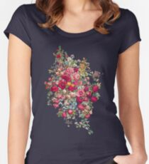 """Bouquety"" Women's Fitted Scoop T-Shirt"