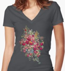 """Bouquety"" Women's Fitted V-Neck T-Shirt"
