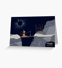 Eclipse from a Rickety Bridge Greeting Card