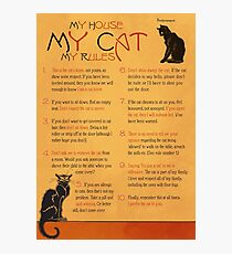 My House, My Cat, My Rules Photographic Print