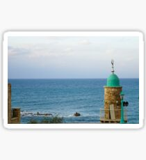 Israel, Jaffa, The turret of El Baher mosque Sticker