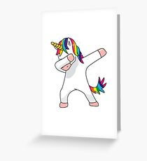 Unicorn Dab Shirt Dabbing Funny Magic Hip Hop T-Shirt For Men, Women, and Kids Greeting Card