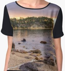 Sunrise at Quarantine Bay, NSW Women's Chiffon Top
