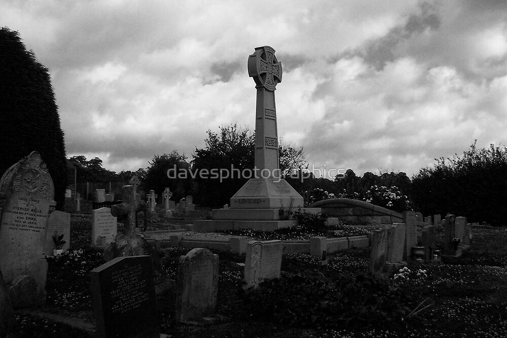 All Saints Church Footscray Memorial Black and White by davesphotographics