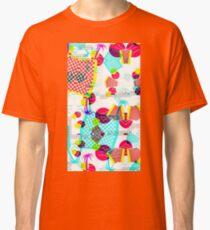 Memphis Design 80's Tropical Glitch Vaporwave Pattern Classic T-Shirt